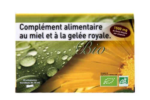 Complément alimentaire au miel et à la gelée royale